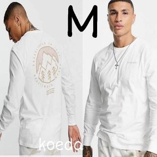 コロンビア(Columbia)のColumbia コロンビア ロンt 長袖 海外限定 ホワイト 白 海外Mサイズ(Tシャツ/カットソー(七分/長袖))