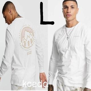 コロンビア(Columbia)のColumbia コロンビア ロンt 長袖 海外限定 ホワイト 白 海外Lサイズ(Tシャツ/カットソー(七分/長袖))