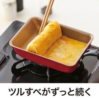 ドウシシャ - エバークック 卵焼き 13×18㎝ オール熱源対応(IH対応)レッド ドウシシャ