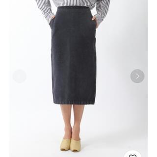 ユナイテッドアローズ(UNITED ARROWS)のカレンソロジー  ブラック デニムスカート  サイズ36 (ロングスカート)