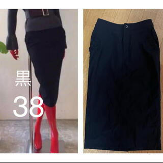ダブルスタンダードクロージング(DOUBLE STANDARD CLOTHING)のダブルスタンダード メリルハイテンション ペンシル タイト スカート 38 黒(ひざ丈スカート)