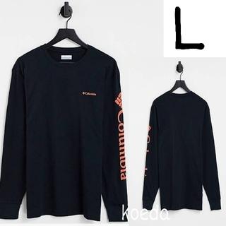 コロンビア(Columbia)のColumbia コロンビア ロンt 長袖 海外限定 ブラック 黒 海外Lサイズ(Tシャツ/カットソー(七分/長袖))