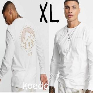 コロンビア(Columbia)のColumbia コロンビア ロンt 長袖 海外限定 ホワイト 白 海外XL(Tシャツ/カットソー(七分/長袖))