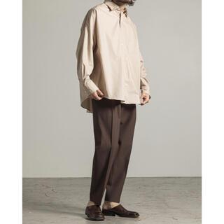 マーカウェア(MARKAWEAR)のmarkaware 21ss ソクタスポプリンテントシャツ ベージュ 極美品(シャツ)