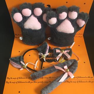 肉球 ネココスプレ ハロウィン 仮装 猫耳カチューシャ(小道具)
