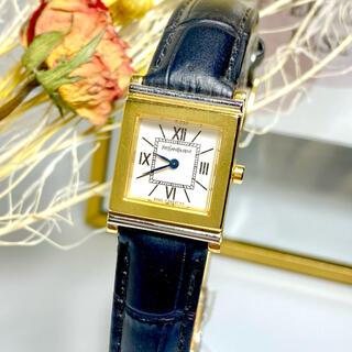 サンローラン(Saint Laurent)の美品 サンローラン YSL 腕時計 電池新品  レディース スクエア レザー(腕時計)
