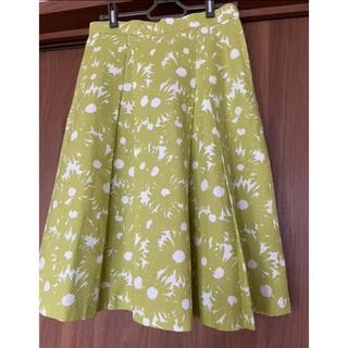 アナナス ANANAS 花柄スカート(ひざ丈ワンピース)