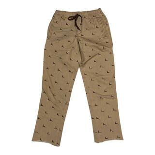 ナンバーナイン(NUMBER (N)INE)の39/27)ナンバーナイン 08AW 鹿刺繍 ワークパンツ ベージュ/ブラウン (ワークパンツ/カーゴパンツ)