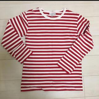 アニエスベー(agnes b.)の赤白ボーダーT(Tシャツ(長袖/七分))