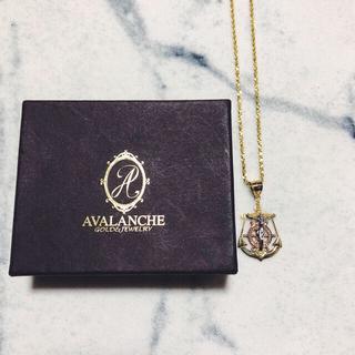アヴァランチ(AVALANCHE)の10K イエローゴールド ロープネックレス アンカー 錨 ジーザス キリスト(ネックレス)
