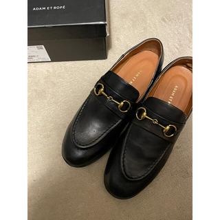 アダムエロぺ(Adam et Rope')のB品訳あり未使用品アダムエロペボロネーゼビットローファーブラック35(25.5)(ローファー/革靴)