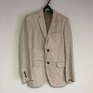 UNIQLO - 100%フレンチリネン メンズ テーラードジャケット