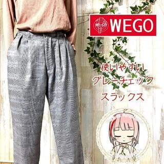 ウィゴー(WEGO)のウィゴー グレンチェック イージーパンツ M テーパード バギーパンツ(カジュアルパンツ)
