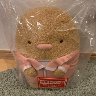 BANDAI - 新品 一番くじ すみっコぐらし学園 ラストワン賞 体育のとんかつ先生ぬいぐるみ