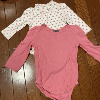ベビーギャップ(babyGAP)の90センチ 長袖ロンパース 記名あり(その他)