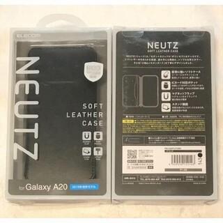 ELECOM - Galaxy A20 用 ソフトレザーケース 磁石付手帳型143