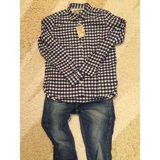 MUJI (無印良品) - 無印オーガニックコットンフランネルチェックシャツ の通販 by nappy's shop|ムジルシリョウヒンならラクマ