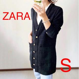 ザラ(ZARA)のZARA 大草直子さん着用 テクスチャーワンピース パッチポケット S(ミニワンピース)