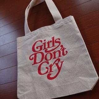 ジーディーシー(GDC)のgirls don't cry logo Tote Bag White(トートバッグ)