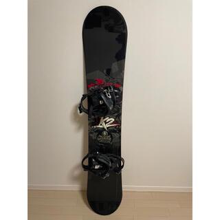 ケーツー(K2)のスノボ k2 ケーツー スノーボード 板 ビンディング 155cm ケース付き(ボード)