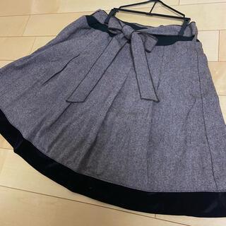 アクシーズファム(axes femme)の秋冬用 毛混スカート(ミニスカート)