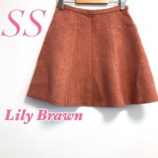 リリーブラウン(Lily Brown)のLily Brown リリーブラウン フレアスカート ミニ ピンク ラメ 上品(ミニスカート)