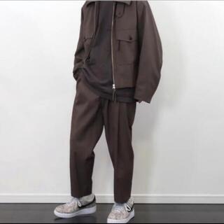 1LDK SELECT - URU(ウル)/1TUCK PANTS/Brown げんじ着