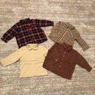 ムジルシリョウヒン(MUJI (無印良品))のトップス チェックシャツ 4枚セット(ブラウス)