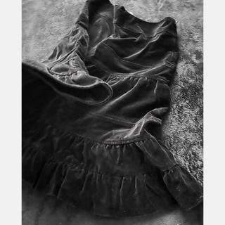 ケイタマルヤマ(KEITA MARUYAMA TOKYO PARIS)のケイタマルヤマ ベッチン 黒 上質 フレアスカート(ひざ丈スカート)