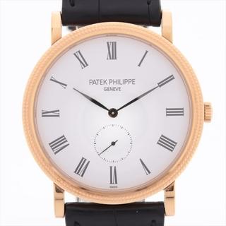 PATEK PHILIPPE - パテックフィリップ カラトラバ 750×革   メンズ 腕時計