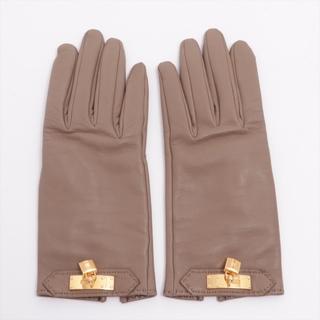 エルメス(Hermes)のエルメス ケリーグローブ レザー  エトゥープ レディース 手袋(手袋)