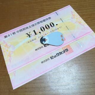 ビックカメラ 株主優待券(2枚)(ショッピング)