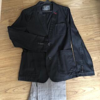 男児スーツ ブルークロス 165 170 ジャケット パンツ(ドレス/フォーマル)