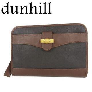 ダンヒル(Dunhill)のダンヒル dunhill ロゴ PVC×レザー クラッチ セカンド バッグ(セカンドバッグ/クラッチバッグ)