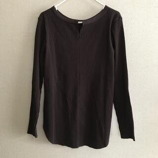 プラステ(PLST)のPLST リブ2wayネックTシャツ(カットソー(長袖/七分))