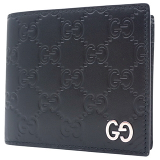 Gucci - グッチ コインウォレット グッチシマレザー ブラック黒 40802003818