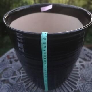 植木鉢 黒 蘭鉢(プランター)