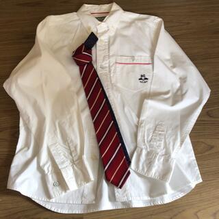 男児 シャツ ネクタイ ブルークロス 165 170 卒業式(ドレス/フォーマル)