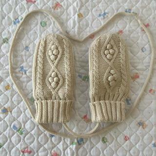 ムジルシリョウヒン(MUJI (無印良品))の無印良品 ベビー ミトン手袋 紐付き(手袋)
