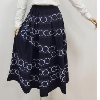 ミナペルホネン(mina perhonen)のミナペルホネンタンバリンtambourineタックスカートサイズ40新品未使用(ロングスカート)
