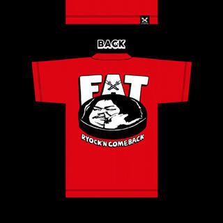 ローリングクレイドル(ROLLING CRADLE)のマキシマムザホルモン FAT Tシャツ 赤(Tシャツ/カットソー(半袖/袖なし))