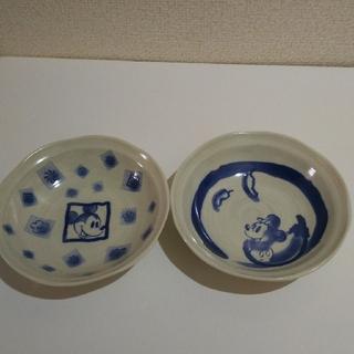 ミッキーマウス(ミッキーマウス)のミッキーマウス和風皿2個セット(食器)