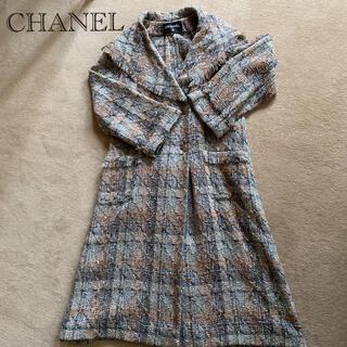 シャネル(CHANEL)のCHANEL 近年ツイードコート 40(ロングコート)