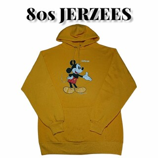 80sJERZEESミッキーマウス両面プリントスウェットパーカー古着Disney