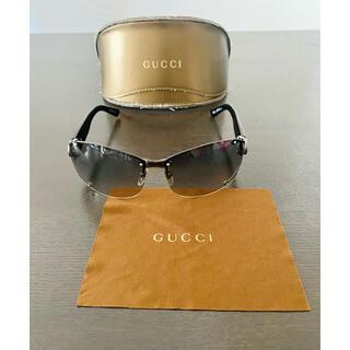 Gucci - お値下げ中★GUCCI グッチ サングラス  ラインストーン 黒色