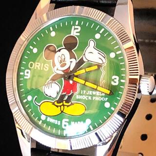 オリス(ORIS)の【激レア】ミッキーマウス/メンズ腕時計/oris/ディズニー/オリス/グリーン色(腕時計(アナログ))