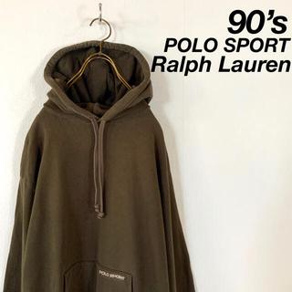 ラルフローレン(Ralph Lauren)の90's POLO SPORT 渋カラー 刺繍ロゴ パーカー ポロスポ(パーカー)