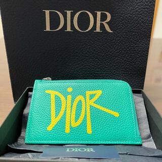 ディオール(Dior)のDIOR.AND.SHAWNコインケース(ほぼ新品、ギャランティー有り)(コインケース/小銭入れ)