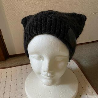 ヴィヴィアンウエストウッド(Vivienne Westwood)の新品未使用 ヴィヴィアン ウエストウット ニット帽子 ウールケーブル編みモカ色(ニット帽/ビーニー)