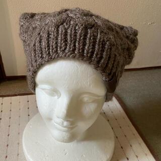 ヴィヴィアンウエストウッド(Vivienne Westwood)の新品未使用ヴィヴィアンウエストウットニット帽子 モカ色(ニット帽/ビーニー)